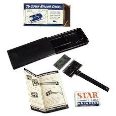 Vintage Star Safety Razor with Original Case and Box - Old Shaving Memorabilia