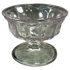Vintage Soda Fountain Sherbet Dish - Turning Sun Purple