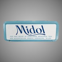 Vintage Midol Medicine Tin for Menstrual Disorders - Fun Tin for the Bathroom