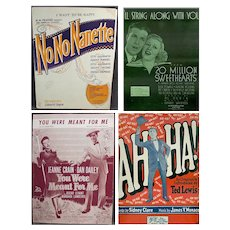 Four Pieces of Vintage Sheet Music from Assorted Musicals and More – Four Different Songs