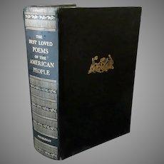 Vintage Hardbound Book – 1936 Best Loved Poems of the American People