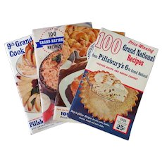 Four Vintage Pillsbury Grand National Bake-Off Recipe Booklets – 6th thru 9th 1954-1957