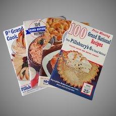 Four Vintage Pillsbury Grand National Bake-Off Recipe Booklets – 6th thru 9th 1954-1957