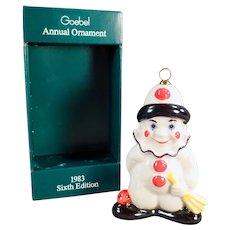 Vintage 1983 Goebel Clown Christmas Tree Ornament with Original Box