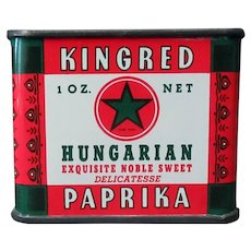 Vintage Spice Tin – Kingred Hungarian Paprika by Schoenfeld & Sons