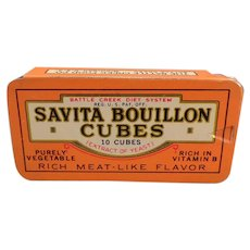 Vintage Savita Bouillion Cubes Tin - Battle Creek Food Co. Diet System
