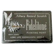 Vintage Fidelitone Floating Point Long Life Phonograph Needle - Original Package