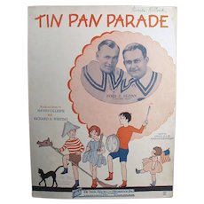 Vintage 1927 Sheet Music - Tin Pan Parade, Ukulele Arrangement - Children on Cover