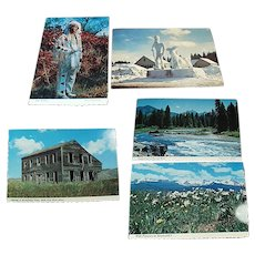 Five Vintage Souvenir Postcards from Idaho in the 1970's