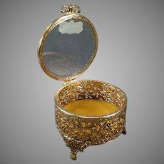 Vintage Stylebuilt Vanity Trinket Holder Dresser Box with Beveled Glass with Original Label
