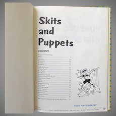Vintage Craft & Project Book for Kids – Boy Scouts Skits and Puppets