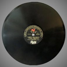Vintage Pathe Freres Phonograph Record with Casey and Riley – Family Troubles/Lunch Hour