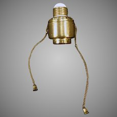 Vintage Dim-A-Lite Pull Chain Light Socket Adapter – Early 1900's Wirt Company