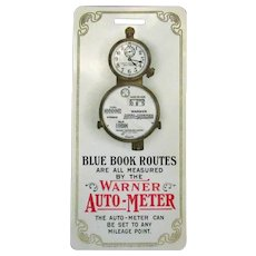 Vintage 1905 Celluloid Automotive Advertising – Warner Auto Meter
