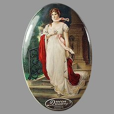 Vintage Celluloid Advertising Mirror for Queen Quality Shoes - Attractive Graphics