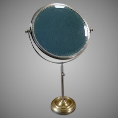 Vintage Shaving or Vanity Mirror with Beveled Mirror that Swivels on Adjustable Stand