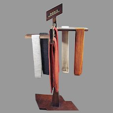 Vintage Paris Suspenders Store Display - Versitile Wood Advertising Display Rack