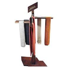 Vintage Paris Suspenders Store Display - Versitile Wood Advertising Display Rack