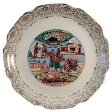Vintage Souvenir Plate with Nice New Mexico Landmarks
