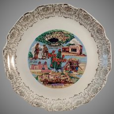 Vintage Souvenir Plate with Nice New Mexico Landmarks