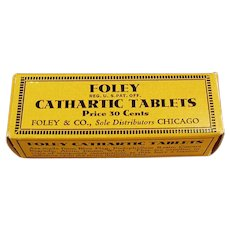 Vintage Foley Cathartic Laxative Tablets Box - Empty Medicine Box