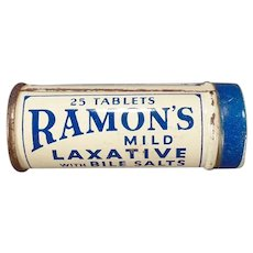 Vintage Ramon's Little Doctor Laxative Tin