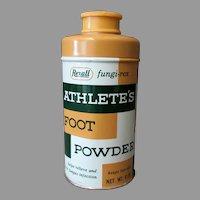 Vintage Rexall Medical Tin - Fungi-Rex Athlete's Foot Powder Tin