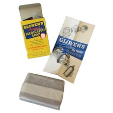 Vintage Glover's Medicated Scalp Soap Bar with Original Box