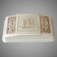 Vintage Hamilton Wrist Watch Box - Bakelite Display Box with Ornate Design