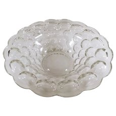Vintage Heisey Provencial #1506 Pattern Console Bowl - Clear Glass ca 1960