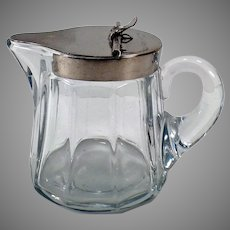 Vintage Heisey #353 5oz Sanitary Syrup Pitcher with Metal Lid