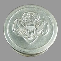 Vintage Girl Scout Folding Aluminum Cup with Girl Scout's Emblem on the Lid