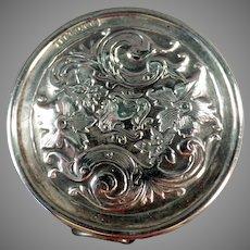 Vintage Sterling Silver Tape Measure with Elaborate Floral Motif