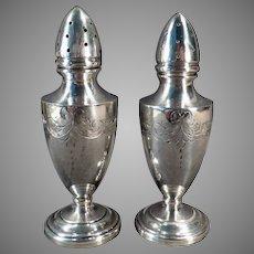 Vintage Sterling Clad Salt and Pepper Set – Vanderbilt Sterling Silver Weighted Shakers