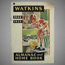 Vintage 1935 Watkins Advertising Almanac - Old J.R. Watkins Booklet