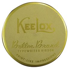 Vintage KeeLox Gold Better Brands Typewriter Ribbon Tin