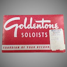 Vintage Goldentone Soloists Steel Phonograph Needles in Original Package of 50