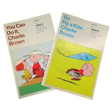 Two Charlie Brown Paperback Books, You Can Do It & Go Fly a Kite