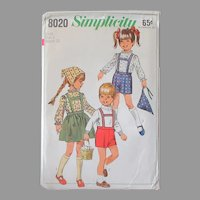 Vintage Simplicity #8020 Child Size 4 Pattern – Darling Tyrolean Outfits