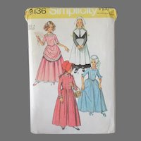 Vintage Simplicity #9136 Girl's Size 4 Pattern - Puritan, Centennial and Other Costume Dresses