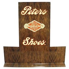 Vintage Peters Diamond Brand Advertising Shoe Display Stand