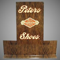 Vintage Peters Diamond Brand Advertising Shoe Display Stand