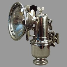 Vintage Riemann Bicycle Lamp with Original Bracket - Old Carbide Lamp