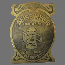 Vintage Seiss Manufacturing Paper Clip with an Oil Bicycle Lamp – Exceptional Advertising