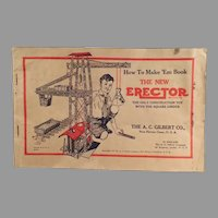Vintage 1934  A.C. Gilbert Erector Set Manual with How to Make 'Em Diagrams