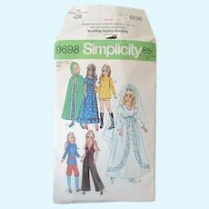 Vintage Simplicity #9698 Doll Clothes Pattern for Crissy, Velvet and Other Teen Dolls