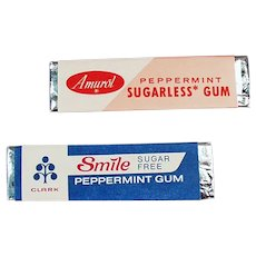 Two Sticks of Vintage Sugarless Chewing Gum - 1960's
