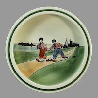 Vintage 1920's Baby Plate with Dutch Boys - Georg Schmider Baden Germany