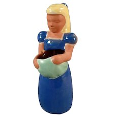 Vintage Frankoma Kid #701 Gardener Girl - Adorable Pottery Figurine