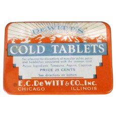 Vintage De Witt's Cold Tablets Medicine Tin – Medical Advertising